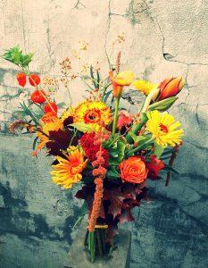 Herfstboeket oranje geel